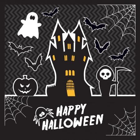 Vecteur de carte de Halloween