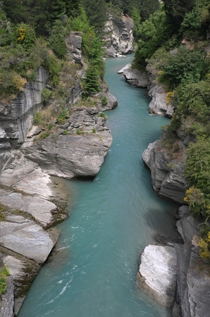 Nice river, Queenstown, South Island, New Zealand Stock Photo