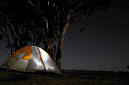 tents: Night bush camping, Australia