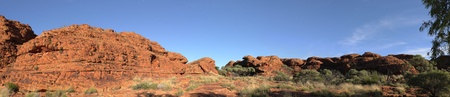 Panorama of the rock in Kings Canyon, Northen Territory, Australia Stock Photo