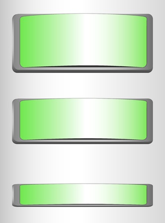 versions: Green Buttons Illustration