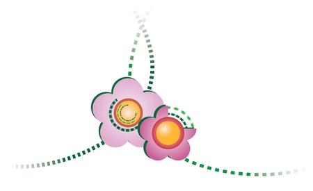 Flowery Scenery Stock Vector - 15549095
