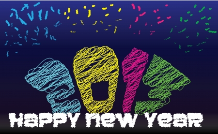 Happy New Year Stock Vector - 15655734