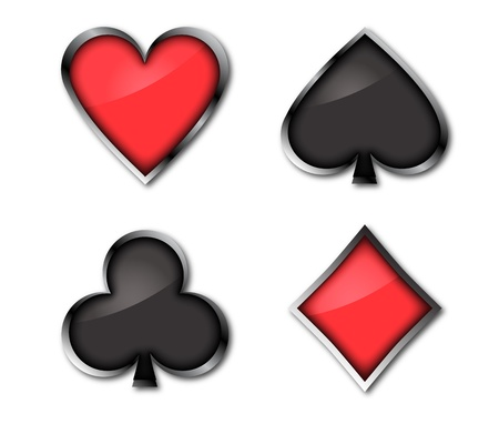 Playing cards signs Vector