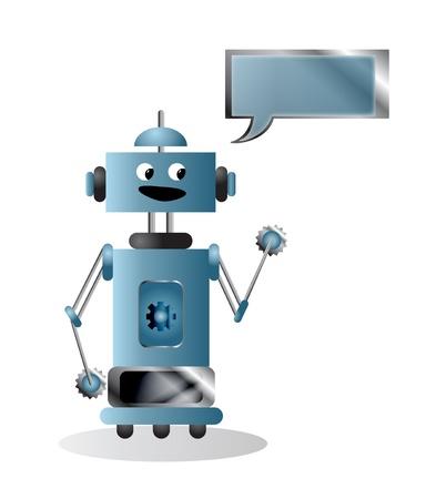 talking robot: Robot Illustration