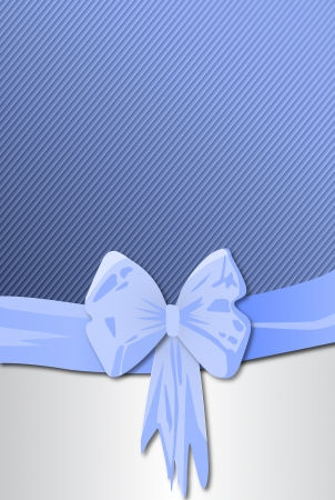 Greeting card with a bow Illustration