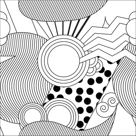 Retro black and white pattern Illustration