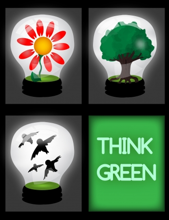 Think green Illustration