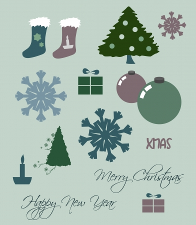 Christmas set Stock Vector - 16587948