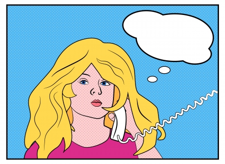 Comics blonde calling Illustration