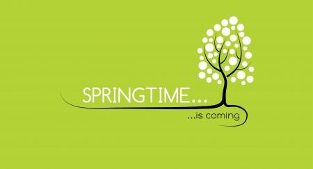 arbol de cerezo: La primavera está llegando Vectores