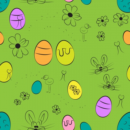 Easter repeating pattern Vector