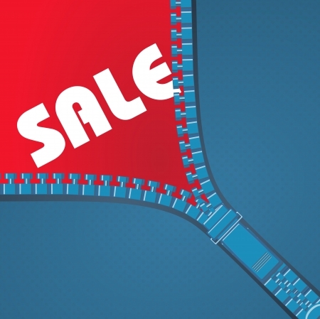 Sale in clothes store Illustration
