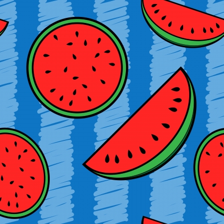 Melon seamless pattern
