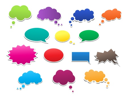 Speech Bubbles Ilustrace
