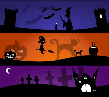 Halloween banners Stock Vector - 18784359