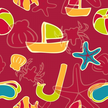 Red summer background Vector