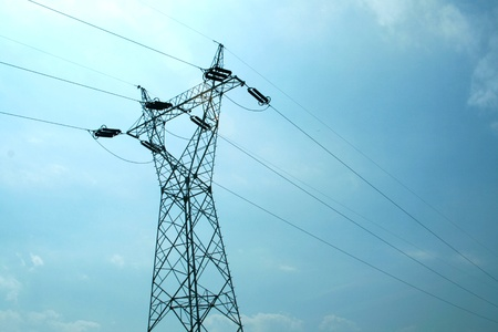 electricity supply: electric pole