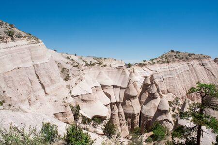 Beautiful mountain scenery. Beautiful landscape in New Mexico. Kasha-Katuwe Tent Rocks National Monument, Close to  Santa Fe, New Mexico, USA