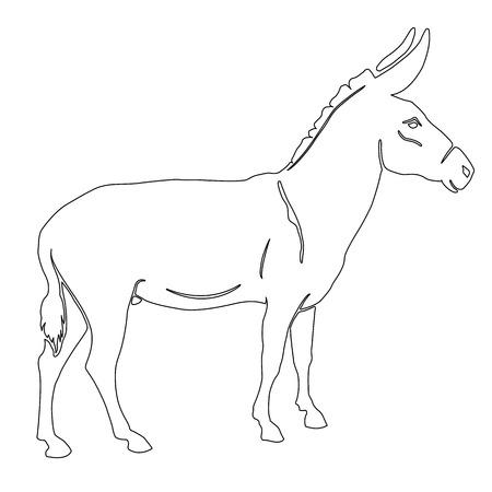 nostrils: illustration donkey silhouette black white