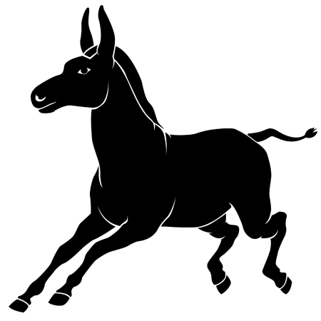 blockhead: ass black silhouette running
