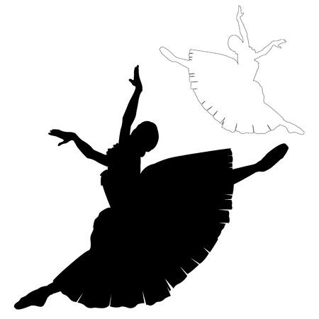 rehearsal: ballerina silhouette black