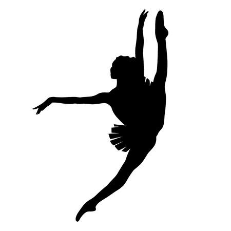 ballerina silhouette: ballerina silhouette black