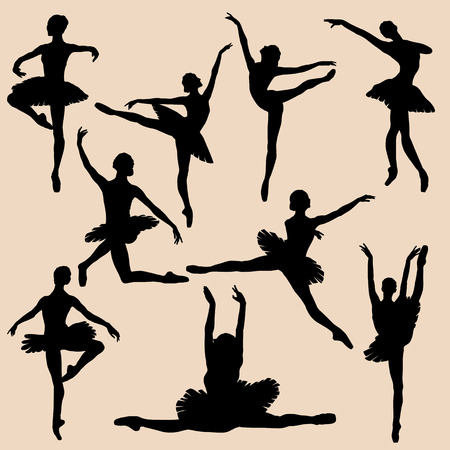 lyrical dance: ballerina silhouette black set