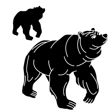 adult black bear silhouette