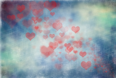 scratchy: Abstract scratchy hearts background Stock Photo