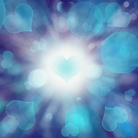 coeur diamant: cercle bokeh coeur
