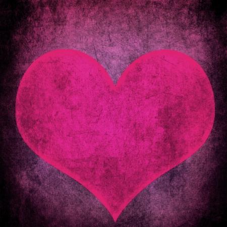 pink heart: Pink grunge heart
