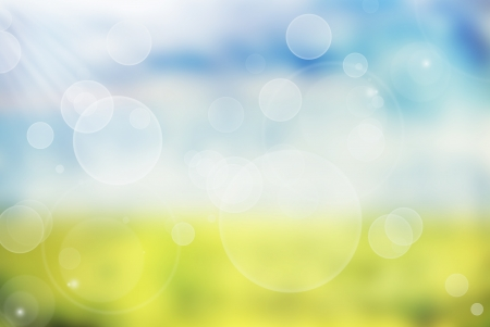 Abstract blurred spring background