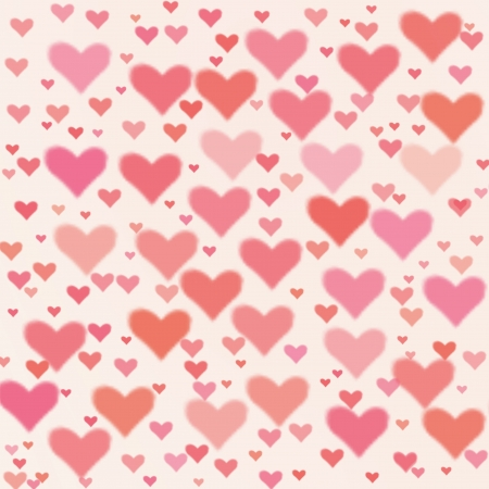 Valentine's day background with hearts Stock Photo - 17580372