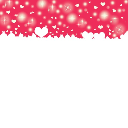 eroticism: White hearts on pink background with space for text