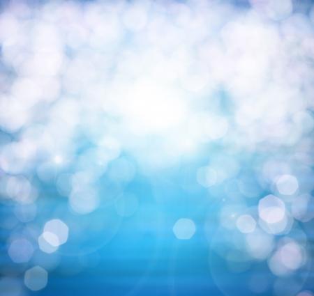 Natura astratta o primavera estate oceano onde sfondo piccolo mare sulla superficie dell'acqua in motion blur con le luci bokeh da sunrise Archivio Fotografico - 18255365