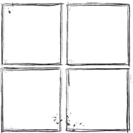 Grunge frames Illustration