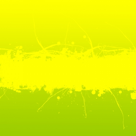 inky: Yellow and green background with grungy inky splashes banner