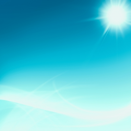 Shining blue flow abstract background photo