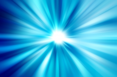 speedy: Blurred rays of light abstract blue background