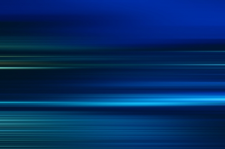 digitally generated image of blue light and stripes moving fast over black background