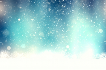 Christmas blue background with snowflakes photo