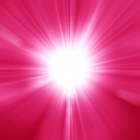 A pink color design with a burst Foto de archivo