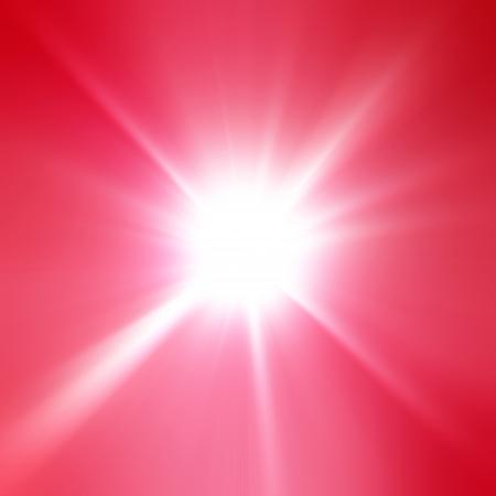 A pink color design with a burst