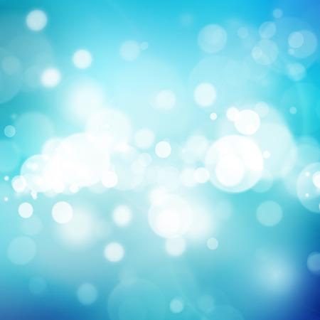 molecula de agua: Resumen de fondo azul bokeh