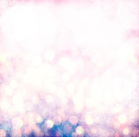 Elegant Grunge Silver, Gold, Pink Christmas Light Bokeh Banque d'images