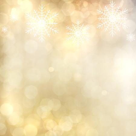 glitzy: Gold Festive Christmas background.