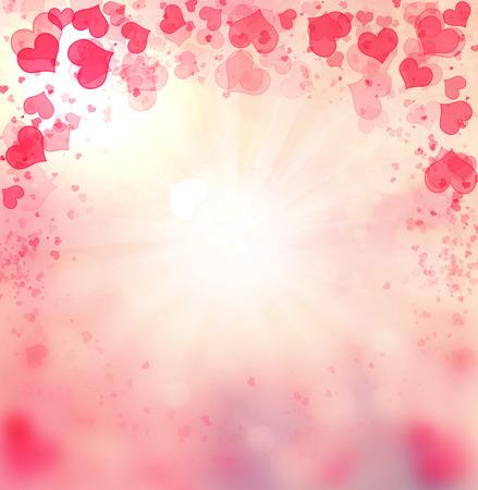 Valentine Hearts Abstract Pink Background. St.Valentine