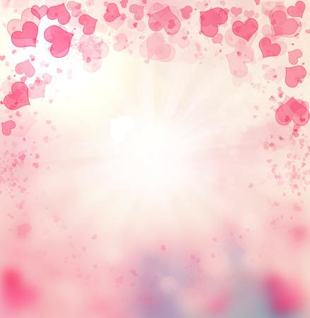 corazon: Valentine Hearts Abstract Pink Background. St.Valentine