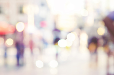 defocused: blur abstract people background Stock Photo
